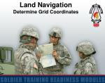 Land Navigation Determine Grid Coordinates