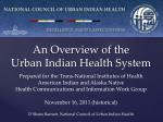 An Overview of the Urban Indian Health System