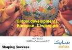 Global developments, European Challenges
