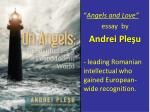 """ Angels and Love"" essay by Andrei Pleşu"