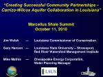 """Creating Successful Community Partnerships – Carrizo-Wilcox Aquifer Collaboration in Louisiana"""