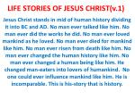 LIFE STORIES OF JESUS CHRIST(v.1)