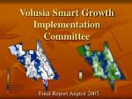Volusia Smart Growth Implementation Committee