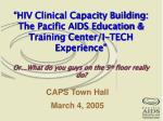 CAPS Town Hall March 4, 2005