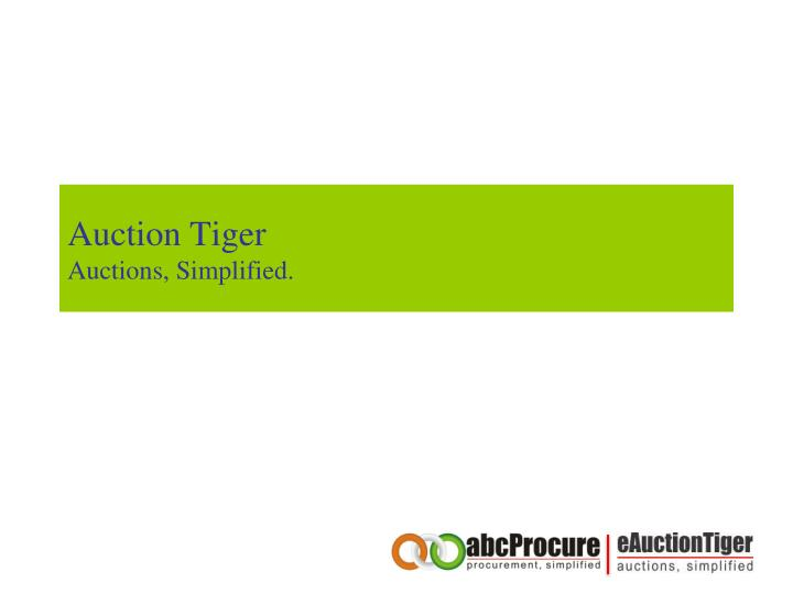 auction tiger auctions simplified n.