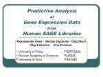 Predictive Analysis of Gene Expression Data from Human SAGE Libraries