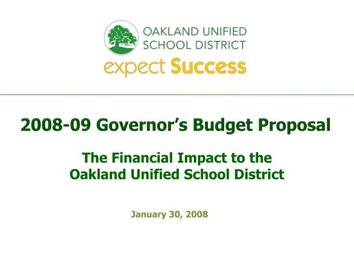 2008 09 governor s budget proposal n.