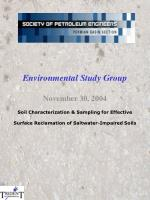 Soil Characterization & Sampling for Effective Surface Reclamation of Saltwater-Impaired Soils