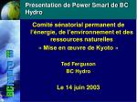 Présentation de Power Smart de BC Hydro