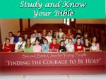 Study and Know Your Bible