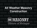 All Weather Masonry Construction