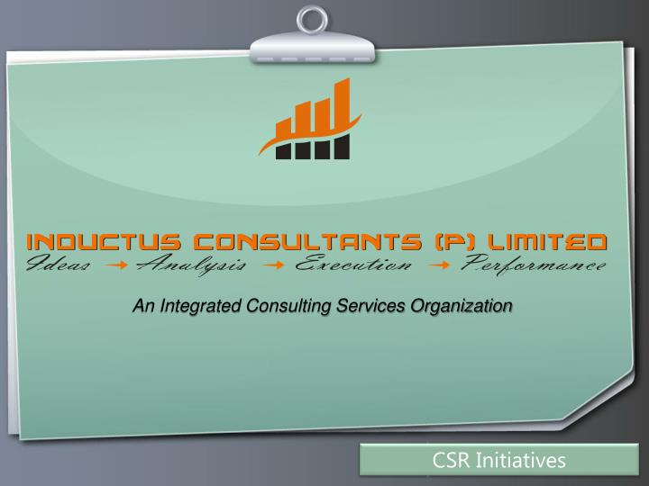 an integrated consulting services organization n.