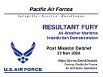 Major General David Deptula Director, Pacific Air Forces  Air and Space Operations