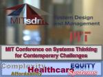 MIT Conference on Systems Thinking for Contemporary Challenges