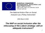 EUROPEAN COMMISSION DG Employment, Social Affairs and Equal Opportunities