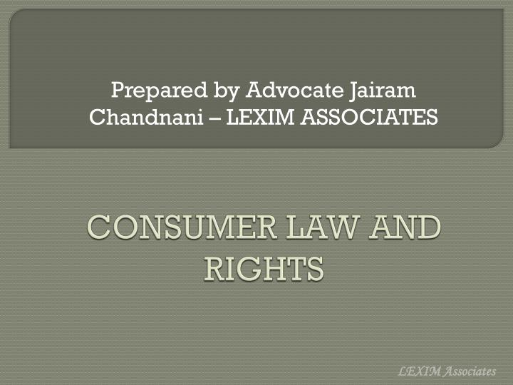 consumer law and rights n.