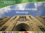International Credentials Workshop
