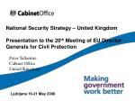 National Security Strategy – United Kingdom