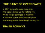 THE SAINT OF CZERNOWITZ