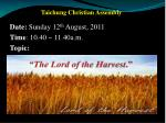 . Taichung Christian Assembly