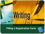 Filling a Registration Form