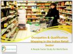 Occupation & Qualification Mapping in the Indian Retail Sector