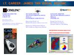 I.T. CAREER : JAMES TAN VISUAL RESUME