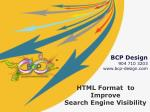 HTML Format to Improve Search Engine Visibility