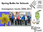 Spring Bulbs for Schools Investigation results 2006-2013
