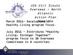 USA Girl Scouts Overseas - North Atlantic  Action Plan  Timeline