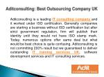 Aditconsulting: Best Outsourcing Company UK