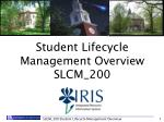 Student Lifecycle Management Overview SLCM_200