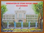 OFFICE OF THE PRINCIPAL ACCOUNTANT GENERAL (A&E) KARNATAKA, BANGALORE