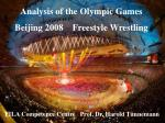 Analysis of the Olympic Games Beijing 2008 Freestyle Wrestling