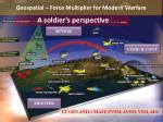 Geospatial – Force Multiplier for Modern Warfare