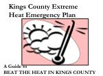 Kings County Extreme Heat Emergency Plan