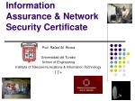 Information Assurance & Network Security Certificate
