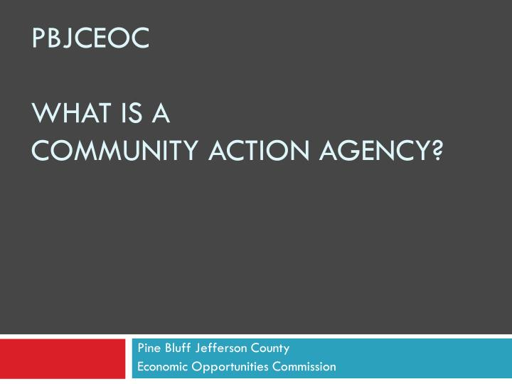 pbjceoc what is a community action agency n.