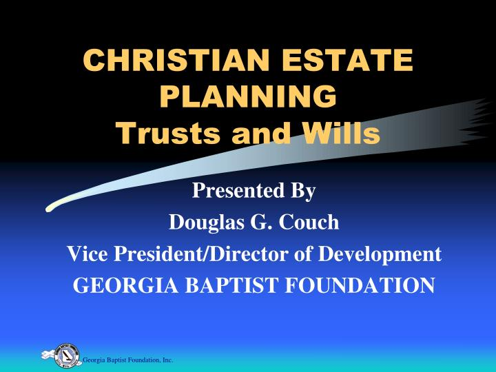 christian estate planning trusts and wills n.