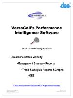 VersaCall's Performance Intelligence Software Shop Floor Reporting Software