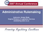 Administrative Rulemaking