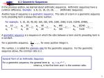 For a geometric sequence, , for every positive integer k.