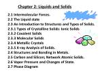 Chapter 2: Liquids and Solids
