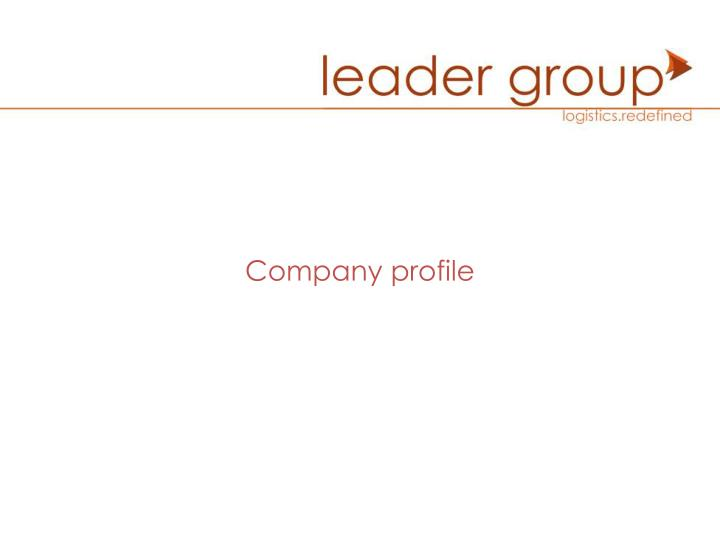PPT - Company profile PowerPoint Presentation - ID:5012398