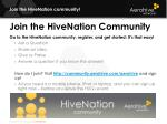 Join the  HiveNation community!