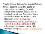 Private School Tuition for Special School