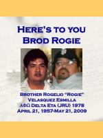 Here's to you Brod Rogie