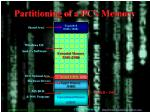 Partitioning of a PC's Memory