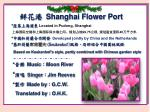 鲜 花港 Shanghai Flower Port
