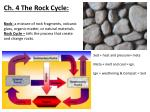 Ch. 4 The Rock Cycle: